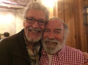 Presenter Tony Sheldon and Lifetime Achievement Award winner Henri Szeps